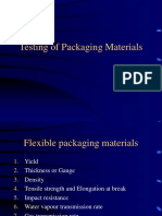 Testing of Packaging Materials