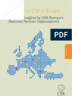 """A Guide to CSR in Europe. Country Insights by CSR Europe's National Partner Organisations (2010)"