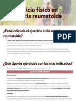 EJERCICIO en Artritis Reumatoidea