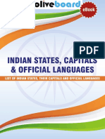 Indian States, Capitals & Official Languages
