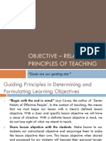 Objective – Related Principles of Teaching