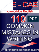FCE-CAE 110 Common Mistakes in Writing