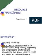Human Resource Management Introduction