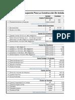 Presupuesto de Construccion- Proyectos
