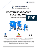 Portable Abrasive Blasting Unit