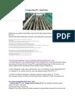 Hidroponik Sistem NFT Dengan Pipa PVC