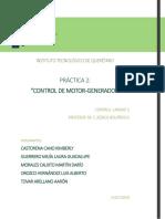 PRÁCTICA 2. Diseño de controldor para MCD