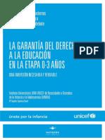 UNICEF - Garantía del Derecho a la Educación en la Etapa de 0 a 3 años