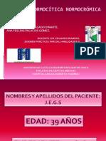 ANEMIA Examen Dr Romero