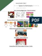 week 1 - visual schedule   coloring page