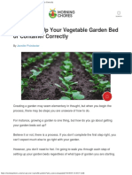 How to Set Up Your Vegetable Garden Bed or Container Correctly