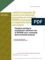 Sentidos emergentes del consumo de sustancias psicoactivas en la entidad IDIPRON y la propuesta de un tratamiento de base comunitaria1