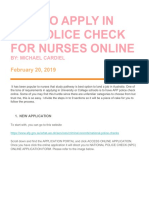How to Apply in Afp Police Check for Nurses Online