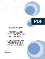 Memoria Descriptiva - Replanteo AGROPECUARIA