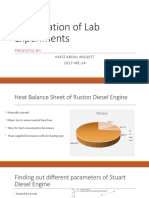 presentation of lab