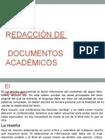 Redacción de Documentos Académicos