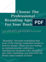 Why Choose the Professional Branding Agencies for Your Business