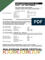 14th Malaysian Chess Festival 2017v1