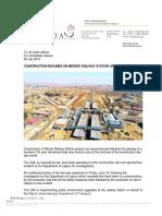 20190722 Construction Resumes on Merafe Railway Station Upgrade Final Version
