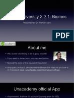 EnE Biodiviersity 2.2.1 Biomes