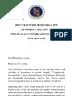 DPP statement on Dams scandal