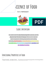 The Functional Properties of Food
