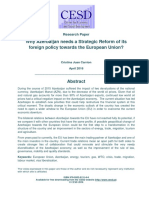 Why Azerbaijan needs a Strategic Reform of its foreign policy towards the European Union?