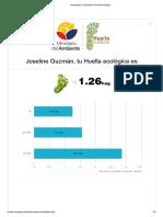 Resultados Calculadora Huella Ecológica Joseline