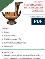 Presentación El Rito Necromántico en La Nékyia de La Odisea