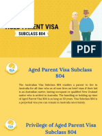 Aged Parent Visa 804 | Visa Subclass 804 | Migration Agent Perth