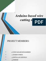 Wire Cutting Machine Finalppt