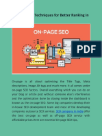 On-Page SEO Techniques for Better Ranking in 2019