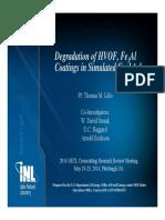 Degradation of HVOF, Fe3Al Coatings in Simulated Coal Ash