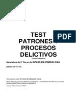 Test Patrones y procesos delictivos