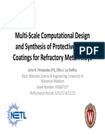 Multi‐Scale Computational Design and Synthesis of Protective Smart Coatings for Refractory Metal Alloys