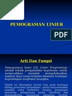 Pemograman Linier