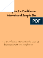 Chapter 7 Confidence Intervals and Sample Size 1211425705575095 9