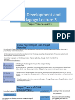 Child Development and Pedagogy Lecture 4