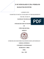 RTL Design of OFDM Based Ultra-wide Band Radar Transceiver_thesis