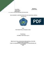 Management Intravena Klasik Pada Lipoma Punggung