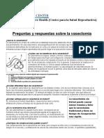 Vasectomy Spanish
