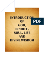 Introduction of God, Spirit, Soul, Life and Divine Wisdom