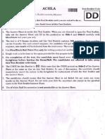 2018 NEET Question Paper Code DD