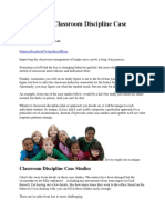 Elementary Classroom Discipline Case Studies