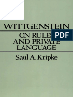 Saul a. Kripke - Wittgenstein on Rules and Private Language_ an Elementary Exposition