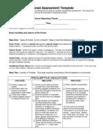 Threat assessment Template
