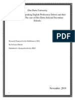 Identification of Speaking English Proficiency Defects and Their Major Causes