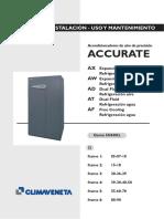 CLIMAVENETA Installation, Use and Maintenance Manual ACCURATE DX Esp