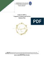 Vanguards Business Plan Format