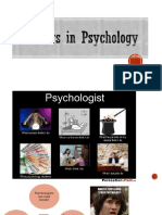 Psychology as a career field